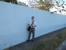 Devon and a wall in ponce